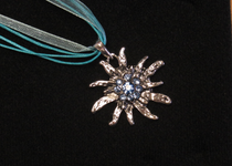 Swarovski Crystal Edelweiss Necklace Teal