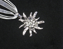 Swarovski Crystal Edelweiss Necklace Crystal White