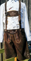 Oktoberfest Lederhosen Max imported from Germany (front)