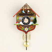 Quartz Clock Black Forest with pendulum and sound