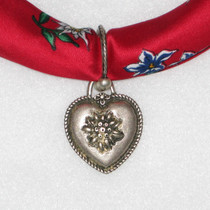 Scarf holder Heart with Edelweiss