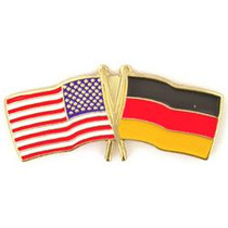 "Hat Pin ""USA - German Flag"""