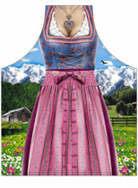 Bavarian Cooking Apron - Female Classic Dirndl