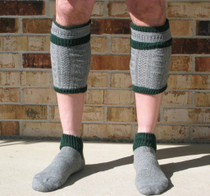 Men's gray green Loferl 2pc Stutzen