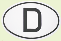 Deutschland 'D' Oval Decal