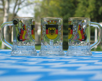 shot glass German seidel with gold rim