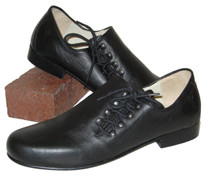 Plattler Shoe Hans leather sole black