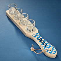 Shot glass Wood Paddle