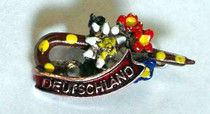 Decorative Hand Painted Cane with Alpine Flowers Hat Pin Oktoberfest 2014