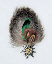 Edelweiss Pin Feather Holder