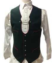 German 'Miesbacher' Trachten Wool Vest Green