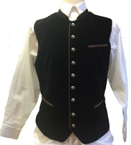 German 'Zwiesel' Trachten Vest Black