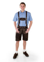 German Oktoberfest Lederhose 'Bernd' goat leather embroidred