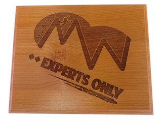 Custom Experts Only Event Plaque