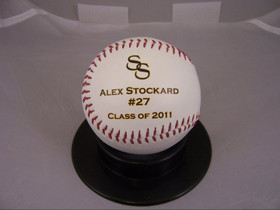 Class of 2010 Personalized High School baseball award
