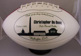 Personalized Full Size Football for wedding