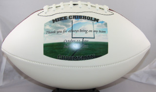 Record Achievement Personalized Football