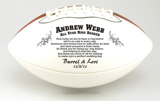 Custom made football for wedding party