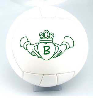 Personalized Claddagh Ring Volleyball with Initial