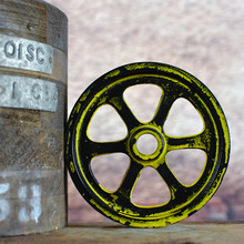 Grunge Yellow Pulley Wheel