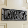 Plaque - Cast Metal - Laundry