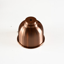 Solid copper lamp shade