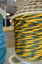 Green & Gold Cloth Cord