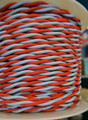 Scarlet & Gray Cloth Wire