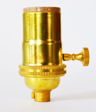 Light Socket Unfinished Brass