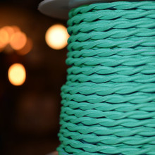 Mint Blue Cloth WIre