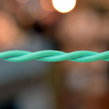 Mint Blue cloth-covered wire