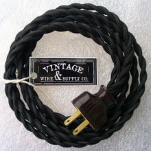 Black Rewire Kit Lamp Cord