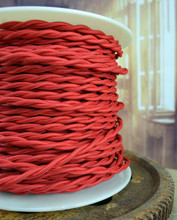 Red Cloth Vintage Wire