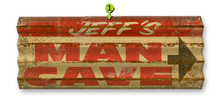 Man Cave metal corrugated sign