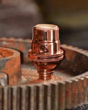 Polished Copper Candelabra Socket