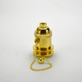 Pull Chain Polished Brass Socket