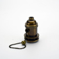 Antique Brass Pull-Chain lampholder