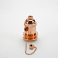 Polished Copper Pull on/off switch