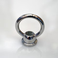 Polished Nickel Loop Ring