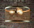 "Lamp Shade - 15"" - Steel Mesh - Brass Finish"