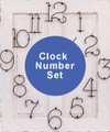 "6"" Vintage Metal Numbers - Clock Number Set"