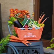 Monogrammed orange mini market tote-University of TN and Clemson fans will love!.