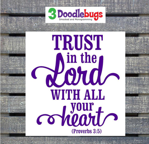 Bible verse decal Proverbs 3:5.