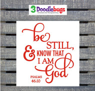 Bible verse decal Psalms 46:10.