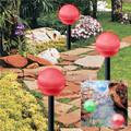 2-Pack RED Hanging/Landscape Solar Ball Lights