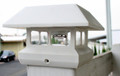 2-Pack White 4 x 4 Fence Post Cap Solar Lights 5 LEDs