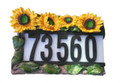 Outdoor Solar Sunflowers House Street Address Light 3 LEDs