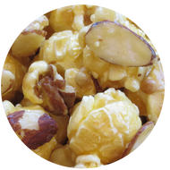French Vanilla Almond specialty popcorn