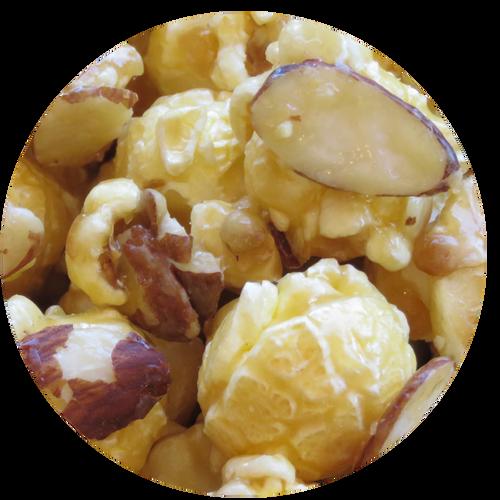 French Vanilla Almond specialty popcorn