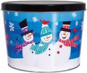 2 Gallon Whimsical Snowmen Popcorn Tin
